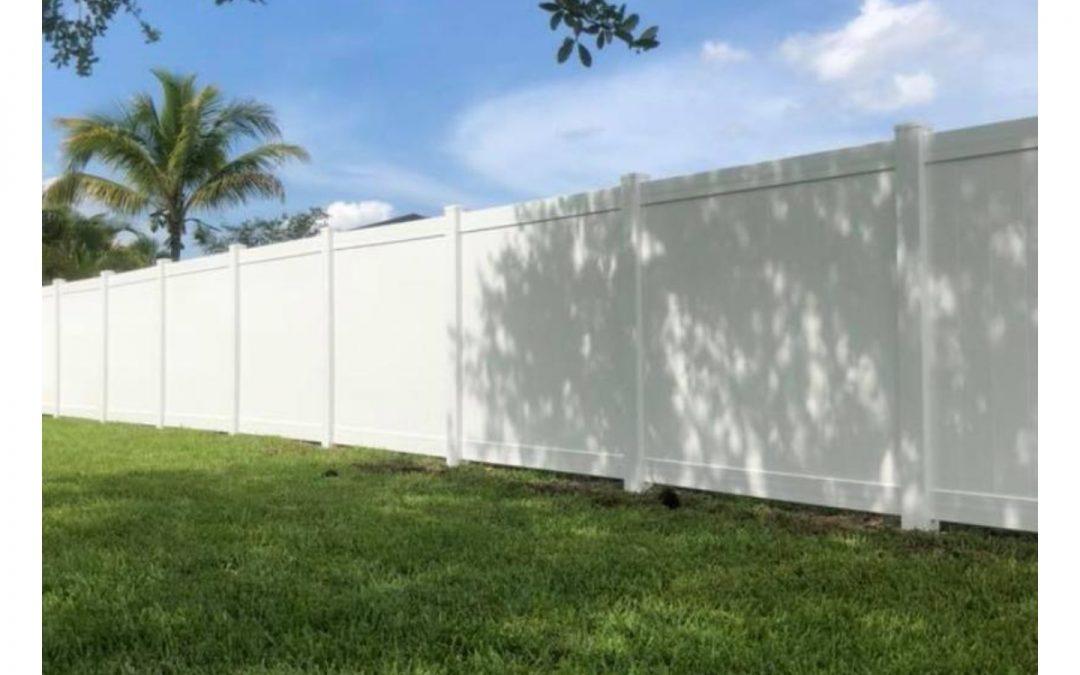 New vinyl fence!